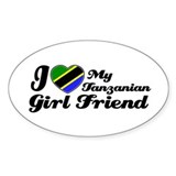 Tanzanian Girlfriend Oval Decal