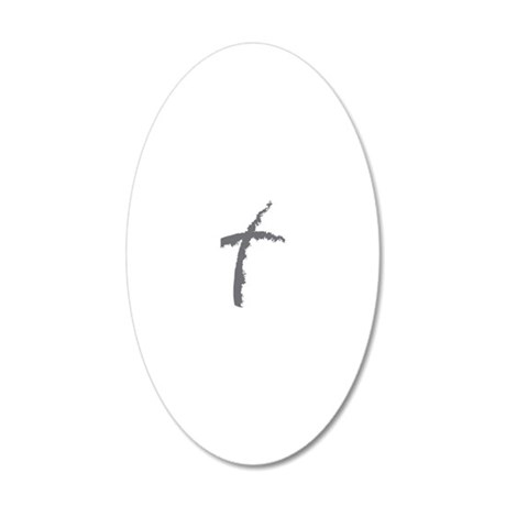 Contemporary Cross 20x12 Oval Wall Decal