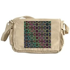 Rainbow Fractal Art Pattern Messenger Bag
