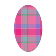 pink plaid Wall Decal