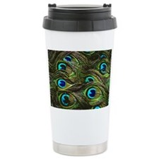 Art Deco Peacock Feathe Travel Mug