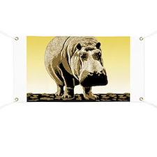 Happy Hippo Hippopotamus Banner