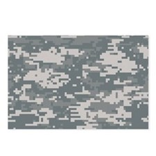 Digital camo laptop skin Postcards (Package of 8)