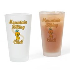 Mountain Biking Chick #2 Drinking Glass