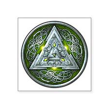 """Norse Valknut - Green Square Sticker 3"""" x 3"""""""