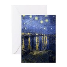 Van Gogh Starry Night Over Rhone Greeting Card