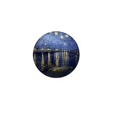 Van Gogh Starry Night Over Rhone Mini Button