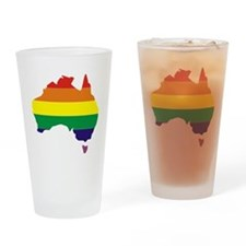 Aussie Pride Rainbow Australia Drinking Glass