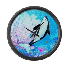 aqu_kids_all_over_828_H_F Large Wall Clock