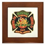 Memphis Fire Department Framed Tile