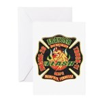 Memphis Fire Department Greeting Cards (Package of