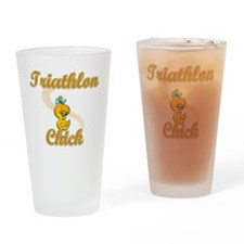 Triathlon Chick #2 Drinking Glass