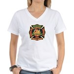 Memphis Fire Department Women's V-Neck T-Shirt