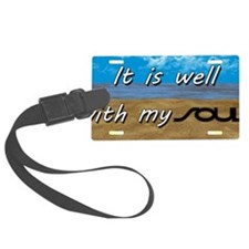 Well With My Soul Beach Luggage Tag