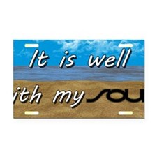 Well With My Soul Beach Rectangle Car Magnet