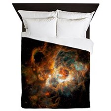 Hubble Space Telescope view of nebula  Queen Duvet