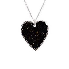Hubble Ultra Deep Field galax Necklace Heart Charm