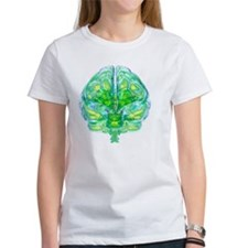 Human brain, computer artwork Tee