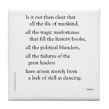 Moliere on Dance Tile Coaster