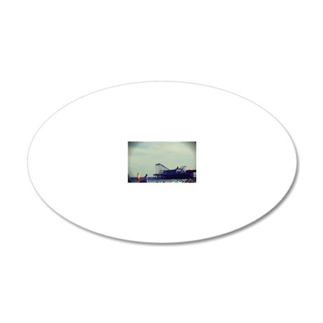 Casino Pier 20x12 Oval Wall Decal