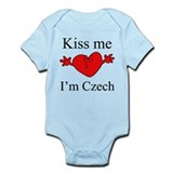 Kiss Me I'm Czech Infant Bodysuit