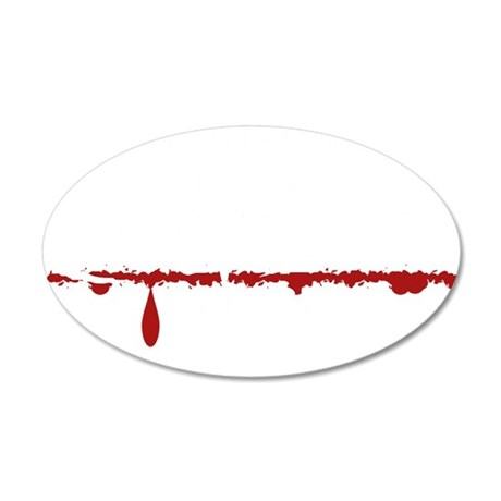 Paramedic Zombie 35x21 Oval Wall Decal