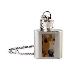 golden retriever Flask Necklace