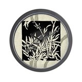 Black Bamboo Wall Clock