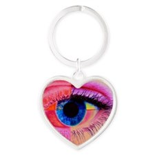 Human eye Heart Keychain