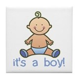 New Baby Boy Cartoon Tile Coaster