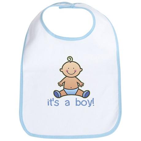 New Baby Boy Cartoon Bib by konceptskids