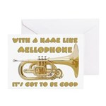 With a Name Like Mellophone Greeting Cards (Pk of