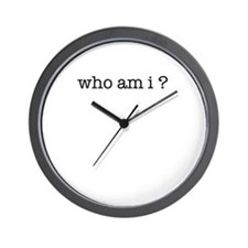 who am i? Wall Clock