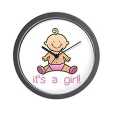 New Baby Girl Cartoon Wall Clock