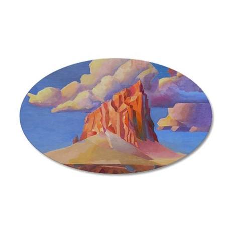 SHIPROCK, NEW MEXICO 35x21 Oval Wall Decal