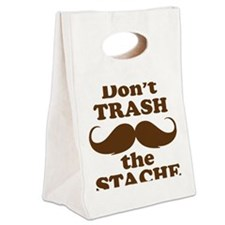Dont Trash the Stache Canvas Lunch Tote