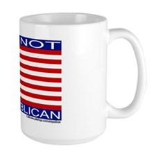 "Large ""I am not a Republican"" Mug"