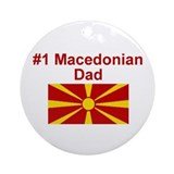 #1 Macedonian Dad Ornament (Round)