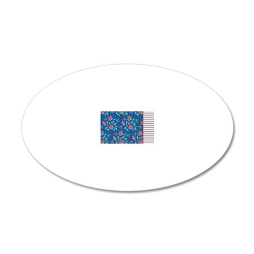 pillowcase Aiyana stripe 20x12 Oval Wall Decal