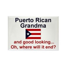 Puerto Rican Grandma-GdLkg Rectangle Magnet