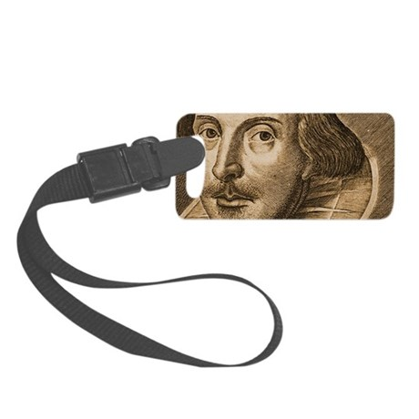 Droeshouts Shakespeare Small Luggage Tag