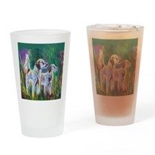 English Setters Drinking Glass
