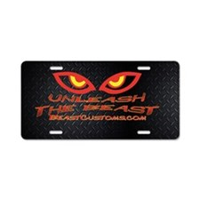 UnleashOval Aluminum License Plate