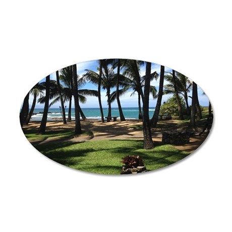 Maui Serenity 35x21 Oval Wall Decal