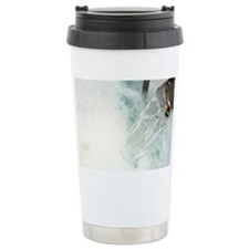 Water gushing from tap  Travel Mug