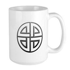 Fade To Black Shield Knot Ceramic Mugs