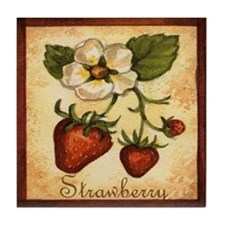 Strawberry Tile Coaster
