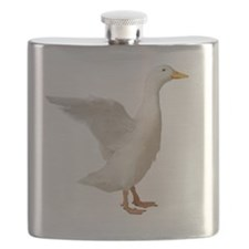 White Pekin Duck Flapping Wings Flask