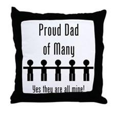 Dad of Many - 5 Kids Throw Pillow