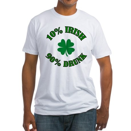 10% Irish #2 Fitted T-Shirt